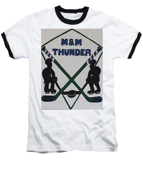 Thunder Hockey Baseball T-Shirt by Jonathon Hansen