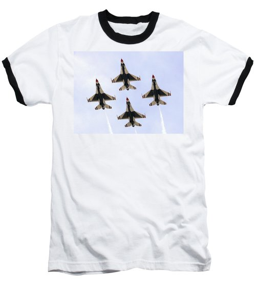 Thunderbirds Away Baseball T-Shirt by Kevin Fortier
