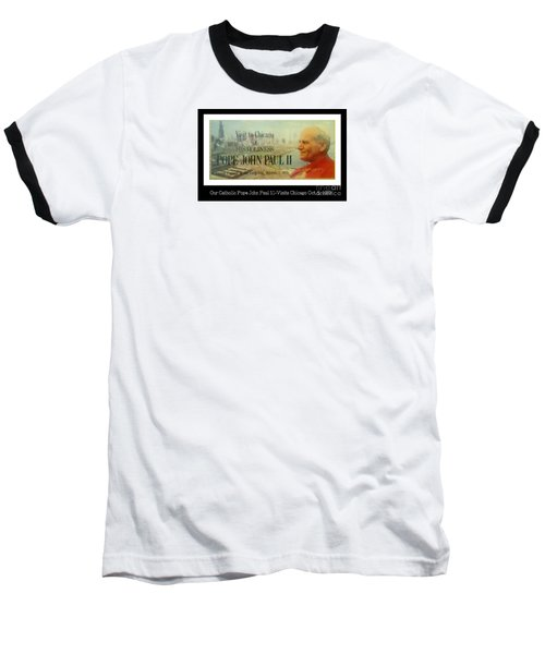 Baseball T-Shirt featuring the photograph Ticket To Pope John Paul In Chicago 1979 by Sherri  Of Palm Springs