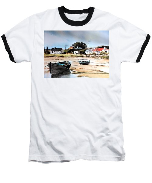 Tide Out In Erlak Roundstone Galway Baseball T-Shirt