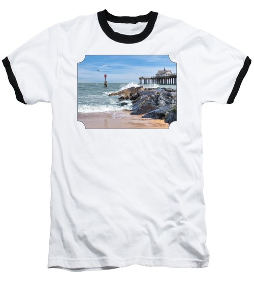 Tide's Turning - Southwold Pier Baseball T-Shirt