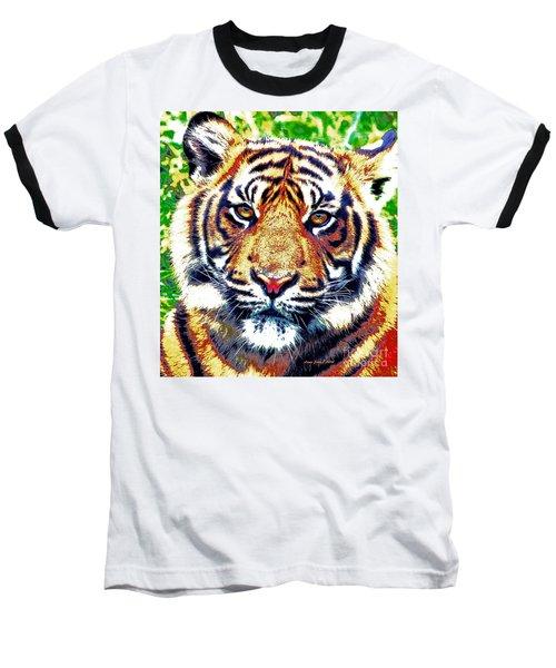 Tiger Art Baseball T-Shirt