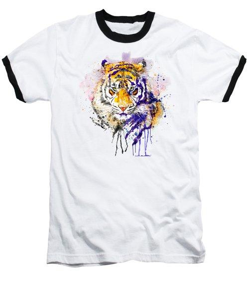 Tiger Head Portrait Baseball T-Shirt