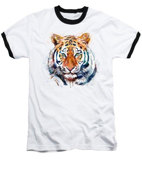 Tiger Head Watercolor Baseball T-Shirt