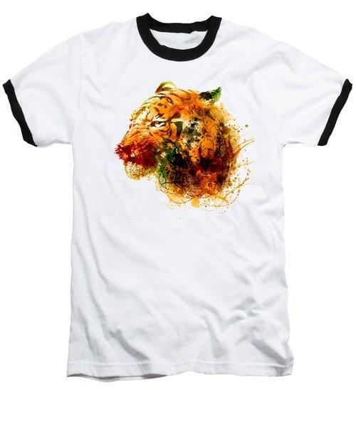 Tiger Side Face Baseball T-Shirt