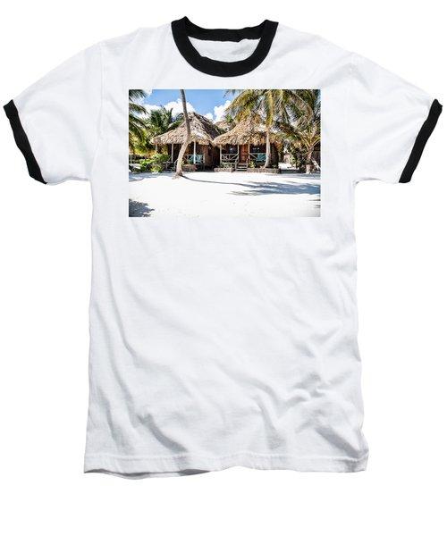 Tiki Huts Baseball T-Shirt