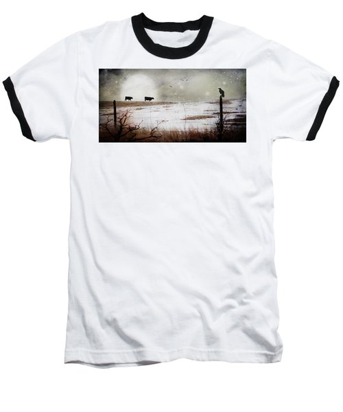 Baseball T-Shirt featuring the photograph 'til The Cows Come Home by Theresa Tahara