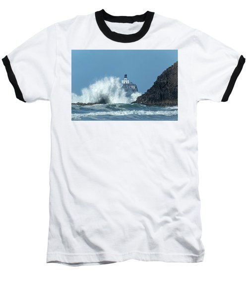 Tillamook Rock Light House, Oregon - Terrible Tilly Baseball T-Shirt