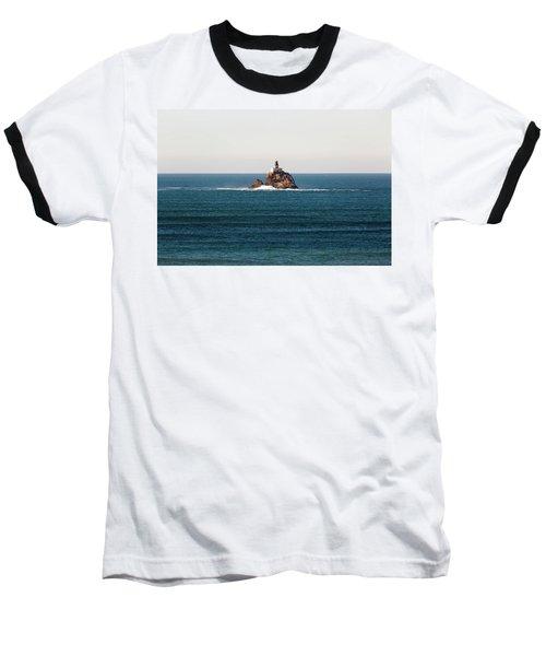 Tillamook Rock Lighthouse On A Calm Day Baseball T-Shirt