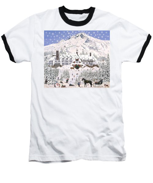 Baseball T-Shirt featuring the painting Timberline Lodge by Jennifer Lake