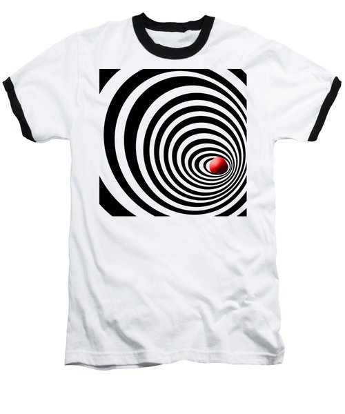 Time Tunnel Op Art Baseball T-Shirt