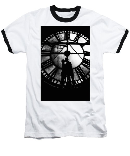 Timeless Love - Black And White Baseball T-Shirt