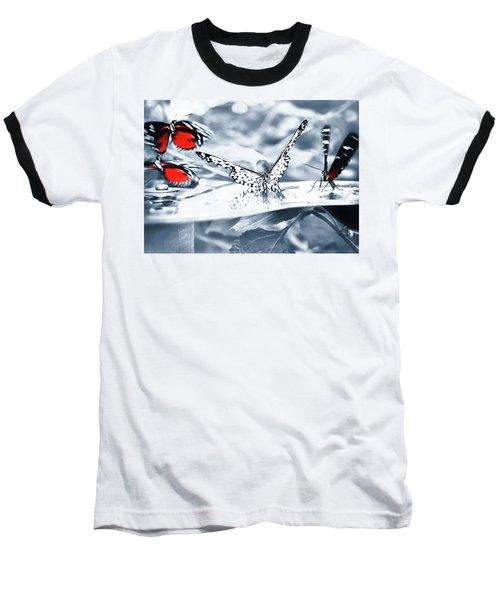 Times Of Butterflies Baseball T-Shirt