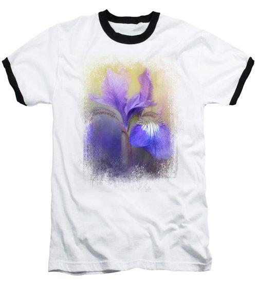 Tiny Iris Baseball T-Shirt by Jai Johnson