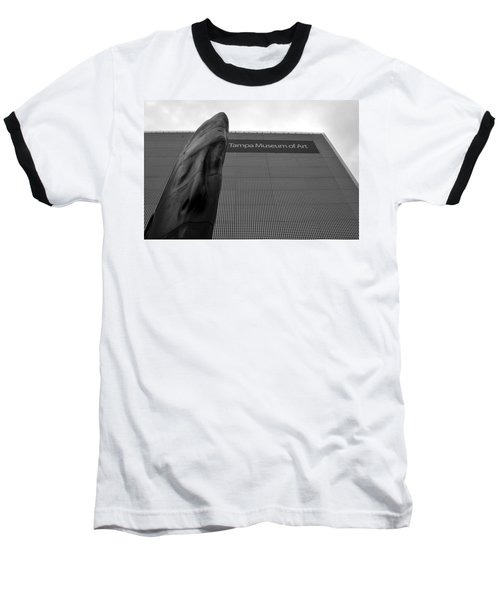 Baseball T-Shirt featuring the photograph Tampa Museum Of Art Work A by David Lee Thompson