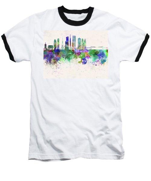 Tokyo V3 Skyline In Watercolor Background Baseball T-Shirt