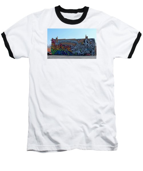 Baseball T-Shirt featuring the photograph Toledo Loves Love by Michiale Schneider