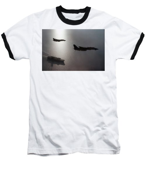 Baseball T-Shirt featuring the photograph Tomcat Silhouette  by Peter Chilelli
