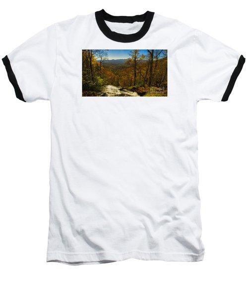 Top Of Amicola Falls Baseball T-Shirt by Barbara Bowen