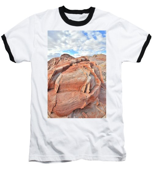 Top Of The World At Valley Of Fire Baseball T-Shirt by Ray Mathis