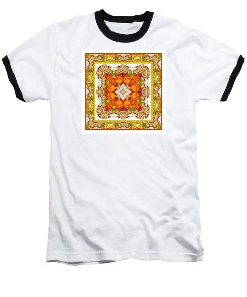Topaz And Peridot Bling Kaleidoscope Baseball T-Shirt
