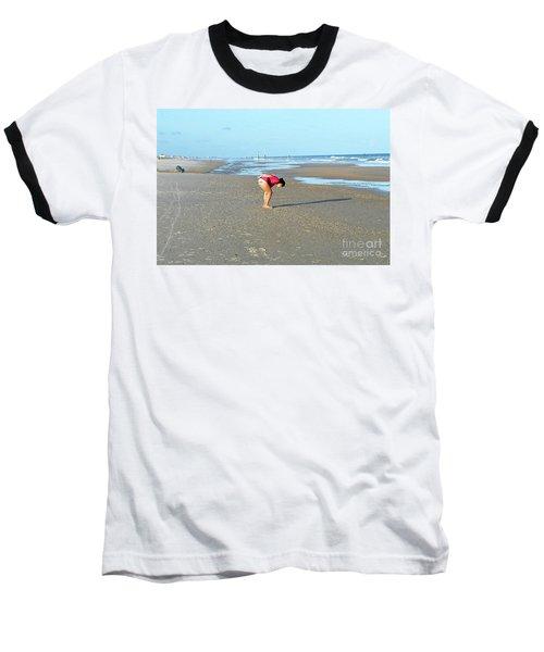 Topsail Island Beach Baseball T-Shirt by Eva Kaufman