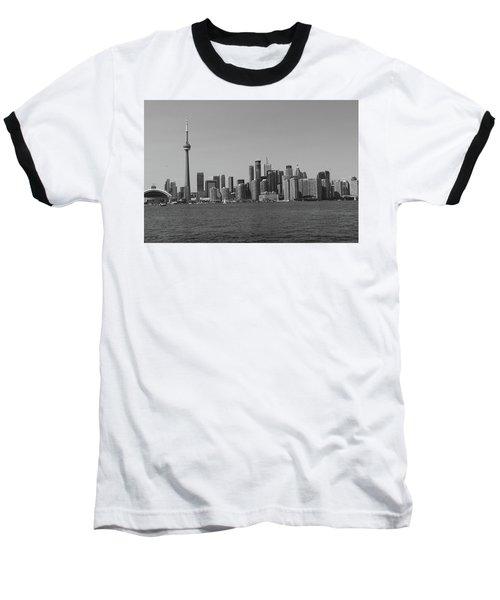 Toronto Cistyscape Bw Baseball T-Shirt