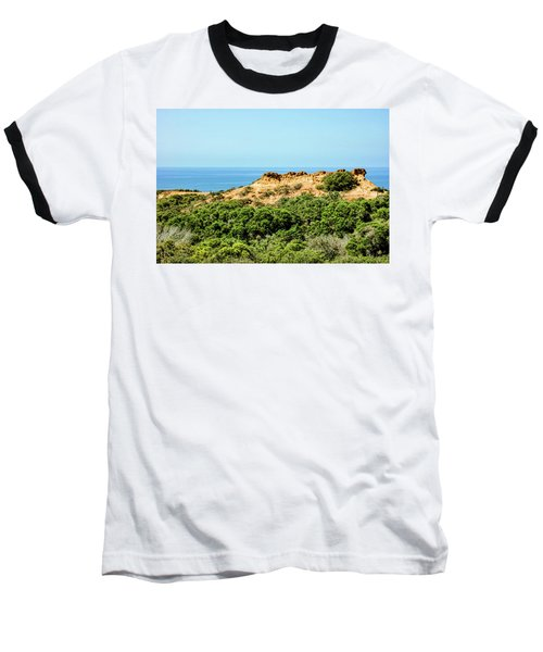 Torrey Pines California - Chaparral On The Coastal Cliffs Baseball T-Shirt