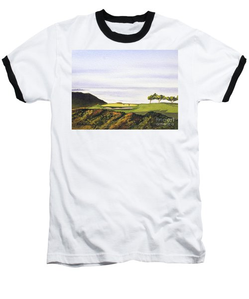 Torrey Pines South Golf Course Baseball T-Shirt by Bill Holkham