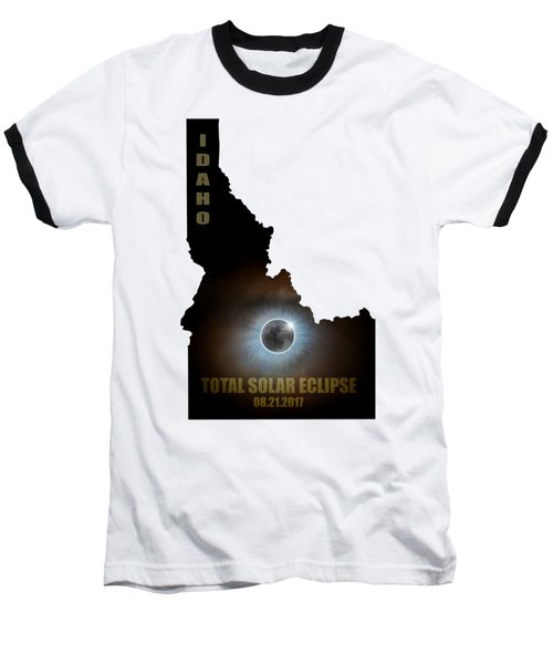 Total Solar Eclipse In Idaho Map Outline Baseball T-Shirt