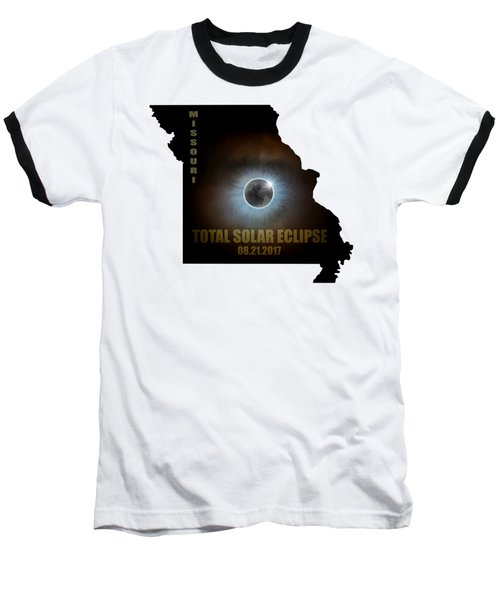 Total Solar Eclipse In Missouri Map Outline Baseball T-Shirt