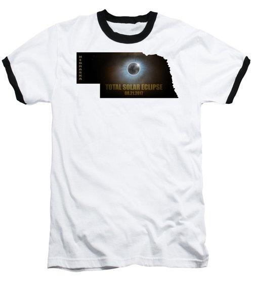 Total Solar Eclipse In Nebraska Map Outline Baseball T-Shirt
