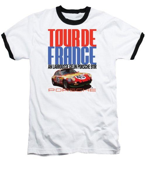 Tour De France Porsche Baseball T-Shirt