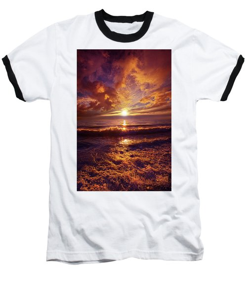 Baseball T-Shirt featuring the photograph Toward The Far Reaches by Phil Koch