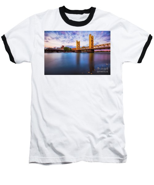 Tower Bridge Sacramento 3 Baseball T-Shirt