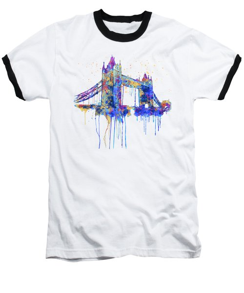 Tower Bridge Watercolor Baseball T-Shirt