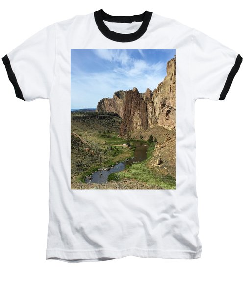 Towering Smith Rocks Baseball T-Shirt