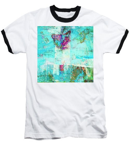 Baseball T-Shirt featuring the painting Towers by Dominic Piperata
