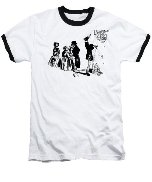 Town Square Grandville Transparent Background Baseball T-Shirt