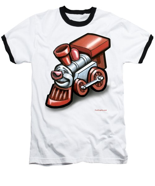 Toy Train Baseball T-Shirt