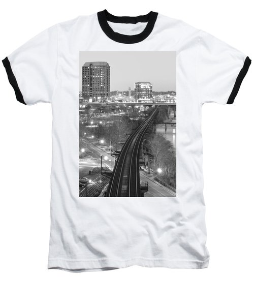 Tracks Into The City Baseball T-Shirt