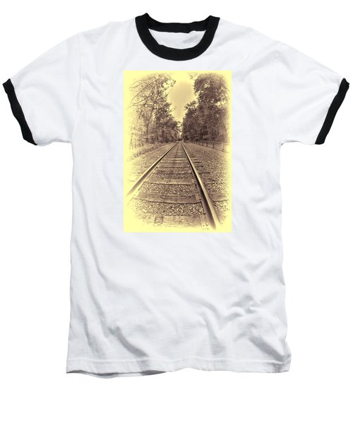 Tracks Through The Park Baseball T-Shirt
