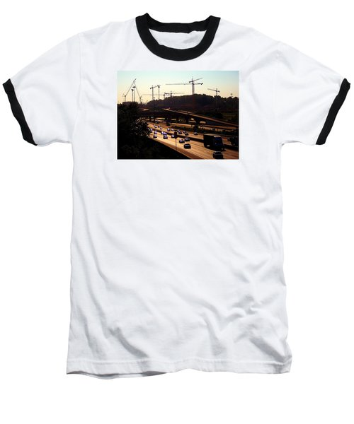 Traffic And Cranes Baseball T-Shirt