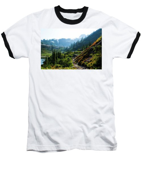 Trail In Mountains Baseball T-Shirt