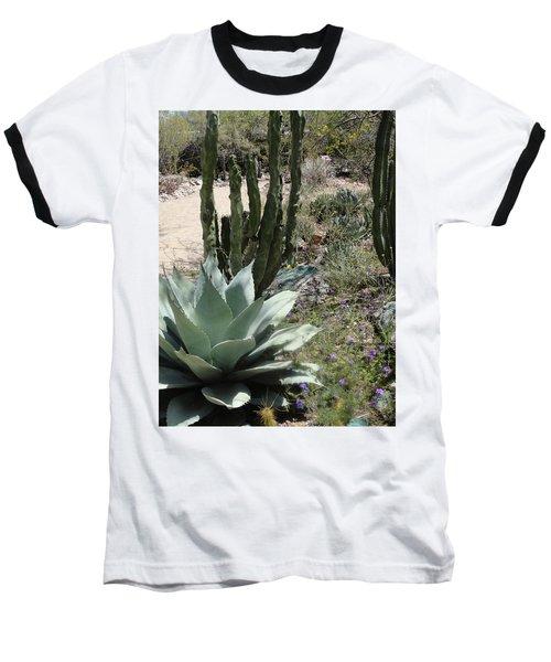 Trail Of Cactus Baseball T-Shirt