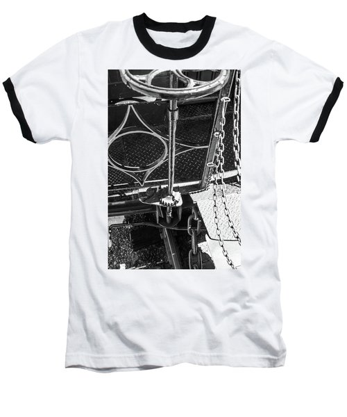 Baseball T-Shirt featuring the photograph Train Car Connections by Colleen Coccia