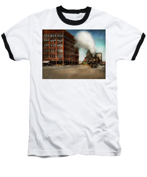 Train - Respect The Train 1905 Baseball T-Shirt by Mike Savad