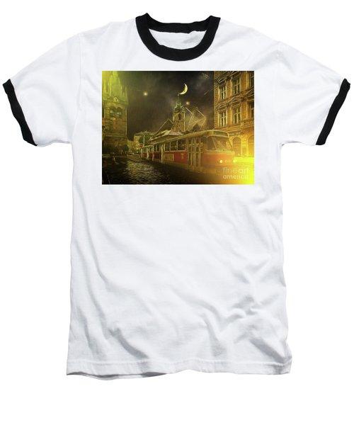 Tramatic - Prague Street Scene Baseball T-Shirt