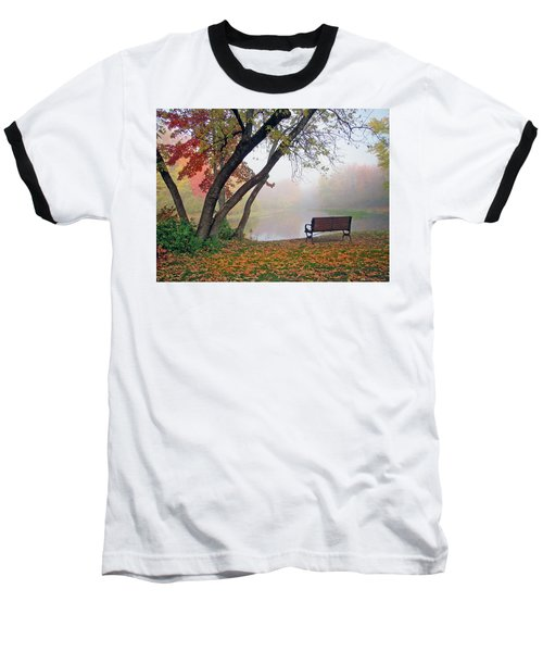 Tranquil View Baseball T-Shirt by Betsy Zimmerli
