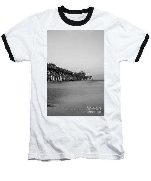Tranquility At Folly Grayscale Baseball T-Shirt